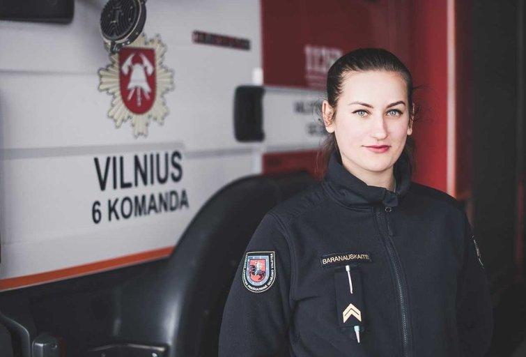 Ugniagesė gelbėtoja I. Baranauskaitė (nuotr. asm. archyvo)