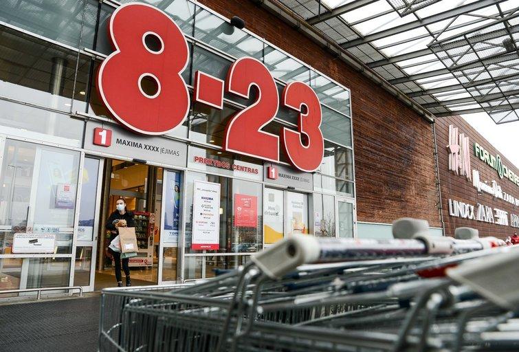 Į parduotuvę – per avarinį išėjimą (nuotr. Fotodiena/Justino Auškelio)