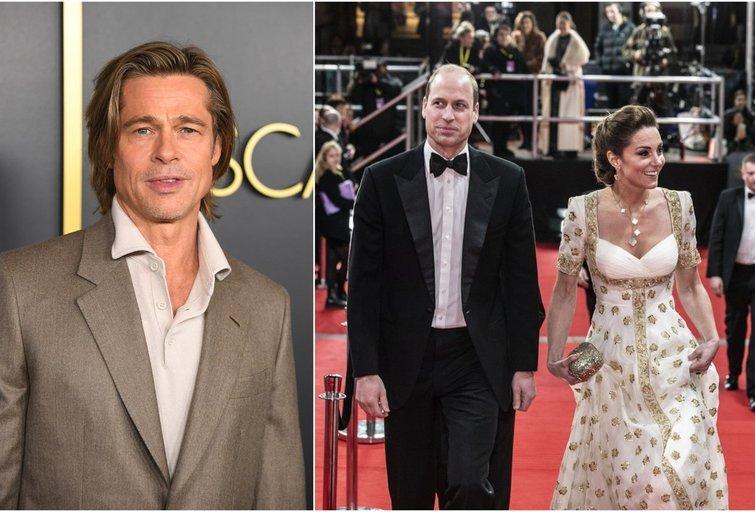 Brad Pitt, princas William ir Kate Middleton (tv3.lt fotomontažas)