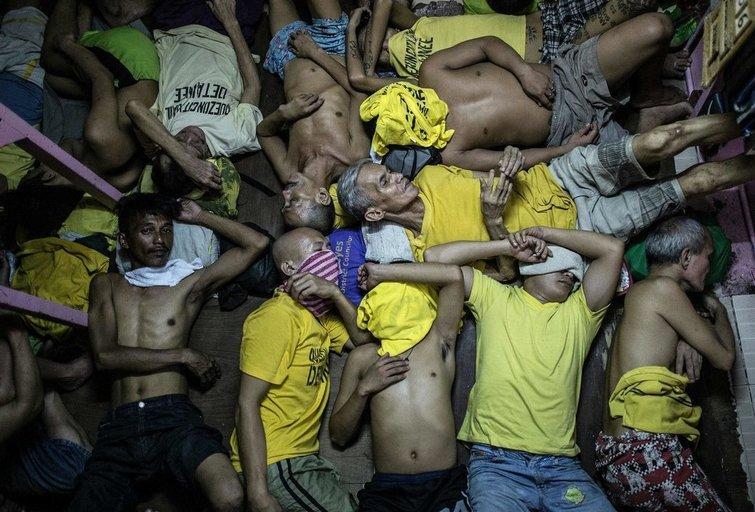 Šokiruojantys vaizdai iš kalėjimo Filipinuose (nuotr. SCANPIX)