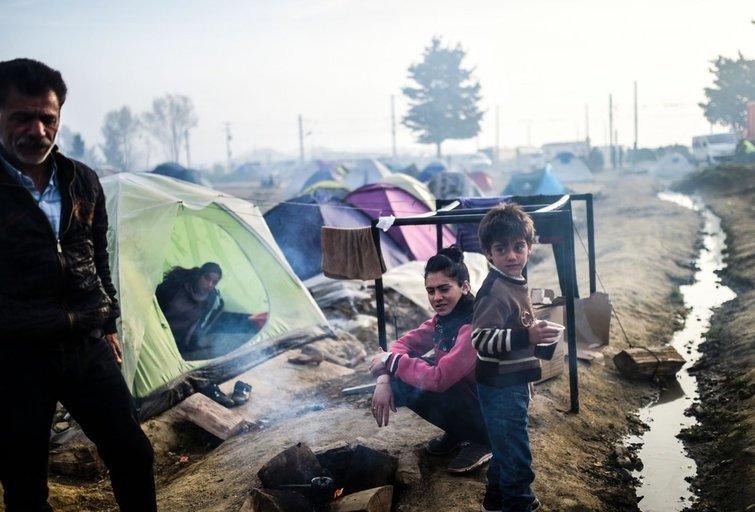 Graikijoje užstrigę migrantai (nuotr. SCANPIX)