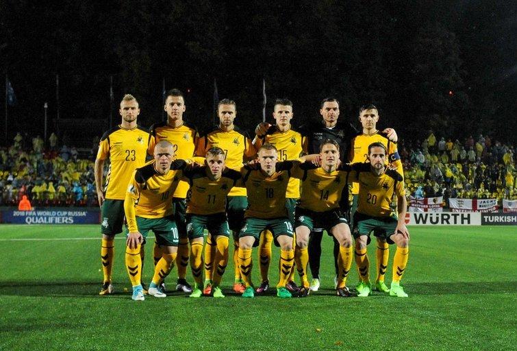 Lietuvos futbolo rinktinė (nuotr. Fotodiena.lt/Eglė Mačiulskytė)