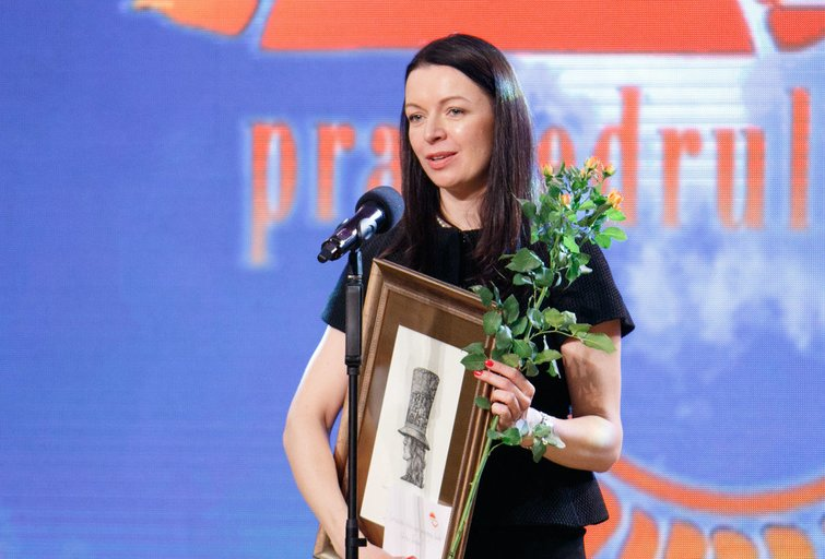 "Laura Blaževičiūtė. Konkurso ""Pragiedruliai"" nugalėtojų apdovanojimas (nuotr. Tv3.lt/Ruslano Kondratjevo)"