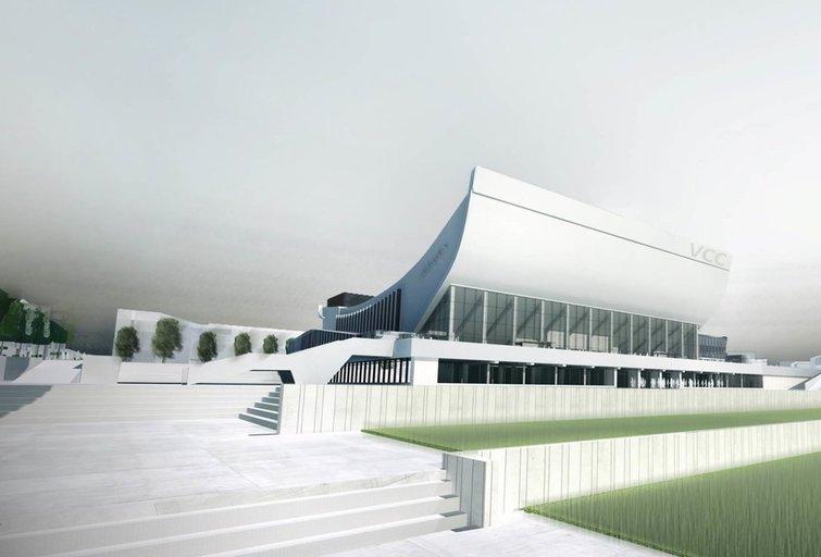 Vilniaus kongresų centro projektas (nuotr. Vilniaus miesto savivaldybės)