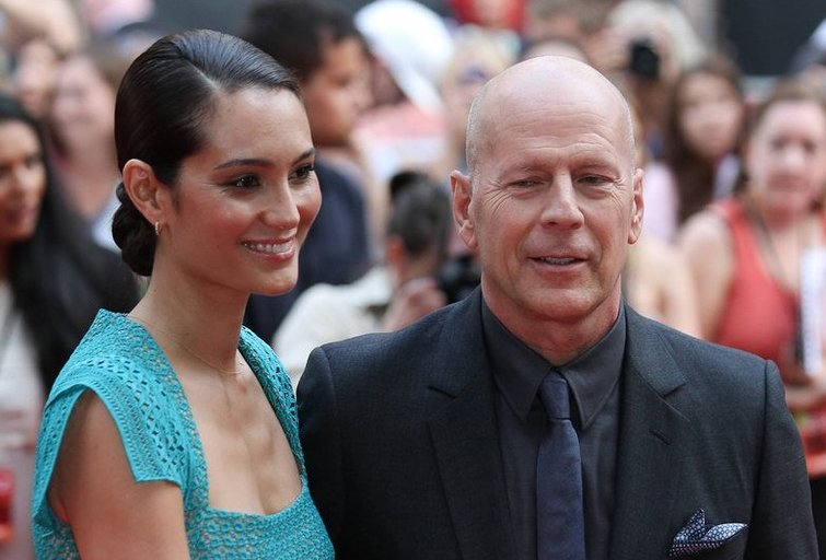 Bruce'as Willisas su žmona Emma Heming (nuotr. SCANPIX)