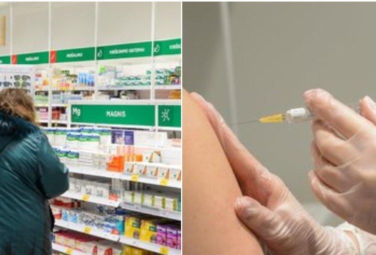 COVID-19 skiepai vaistinėse (tv3.lt fotomontažas)