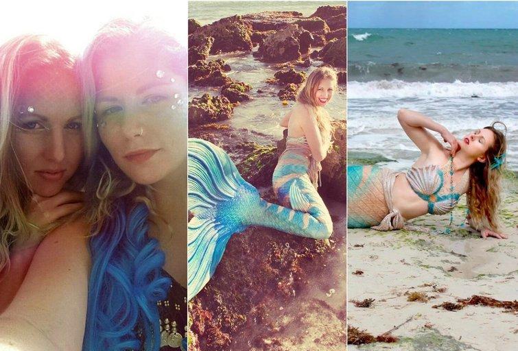 """Merginų svajonė virto realybe: tapo undinėmis, kurios plaukioja su rykliais (nuotr. asmeninio albumo (""""Facebook"""")"""