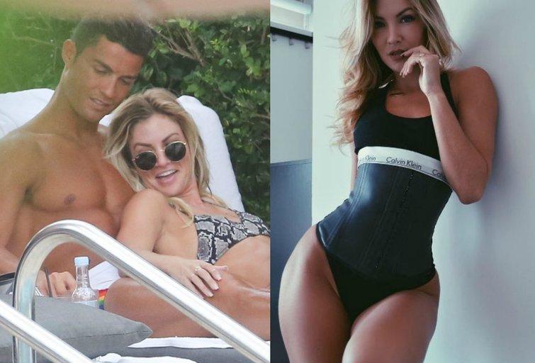 Cristiano Ronaldo ir Cassandre Davis (nuotr. Vida Press/Instagram)