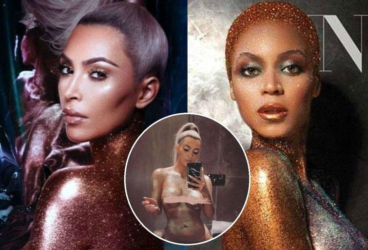 Kim Kardashian ir Beyonce (nuotr. tv3.lt fotomontažas)