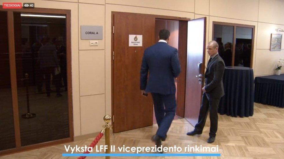 Slapti LFF viceprezidento rinkimai (nuotr. stop kadras)
