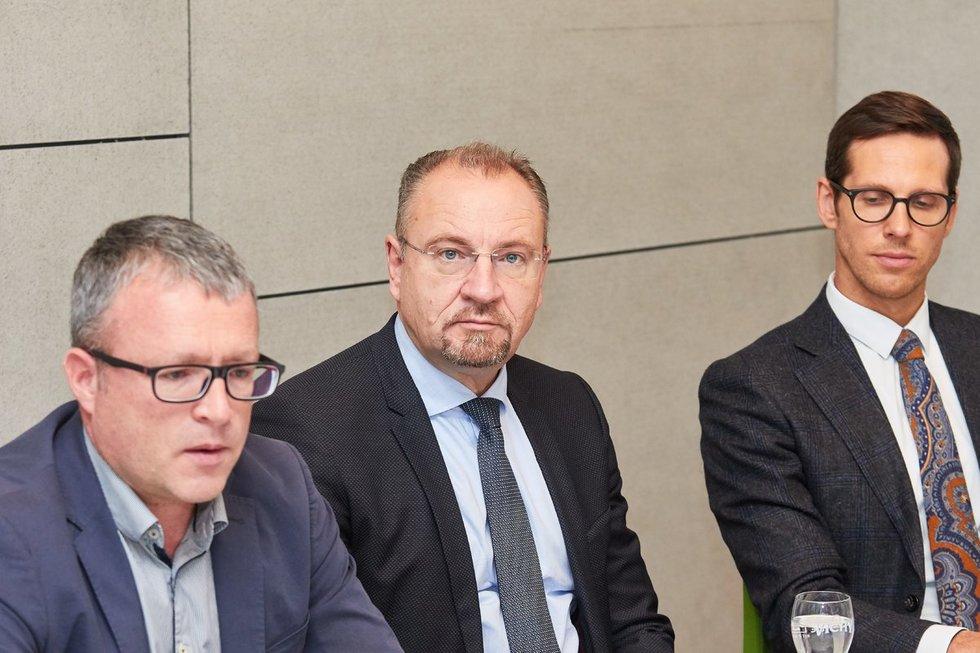 Gintaras Varnas, Saulius Galadauskas, Laurynas Vilimas (nuotr. Tv3.lt/Ruslano Kondratjevo)