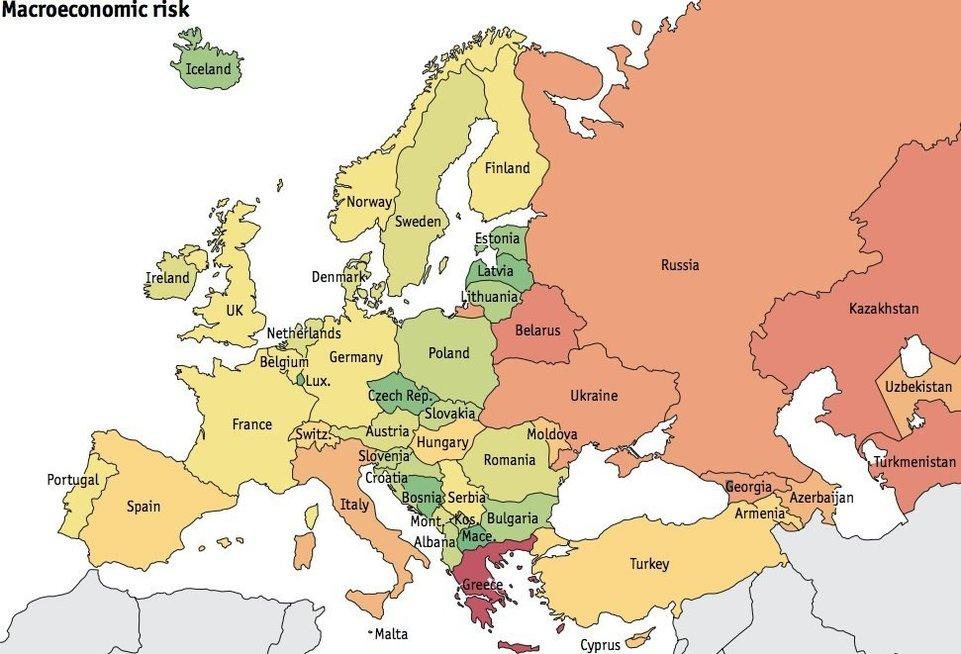 Europos grėsmių žemėlapis (nuotr. Organizatorių)