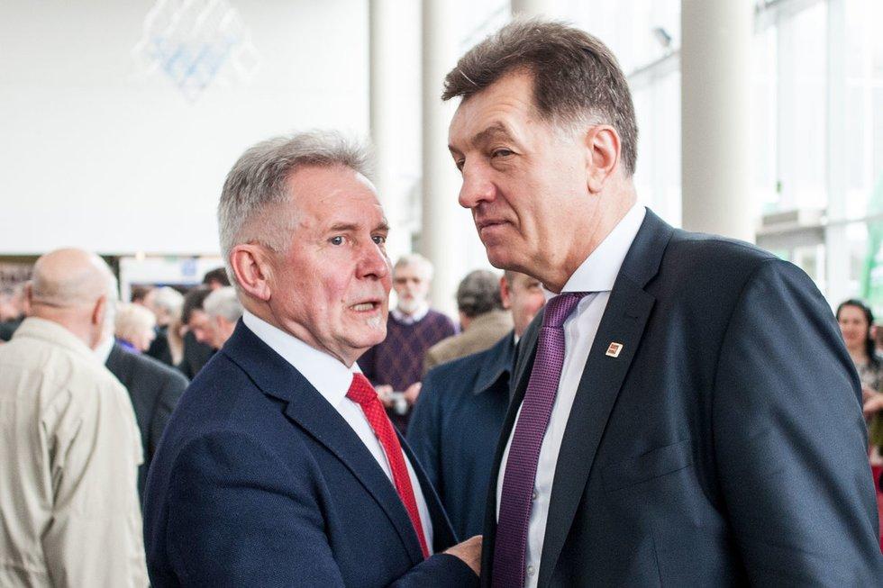 A. Sysas (kairėje) ir A. Butkevčius