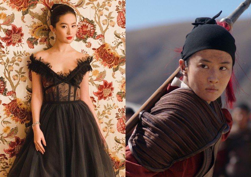Princesę Mulan vaidinanti Liu Yifei