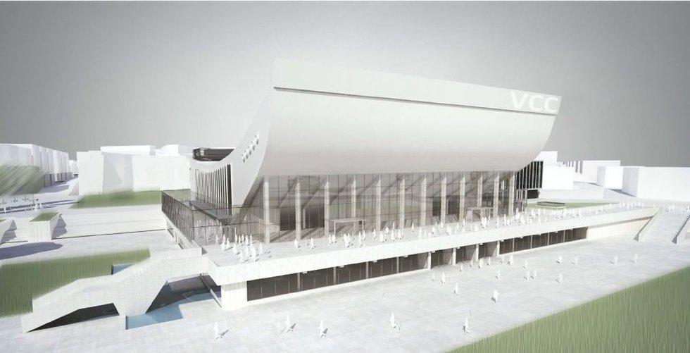 Rekonstruotų Sporto rūmų vizualizacija ( nuotr. Sigito Kuncevičiaus projektavimo firmos) (nuotr. Organizatorių)