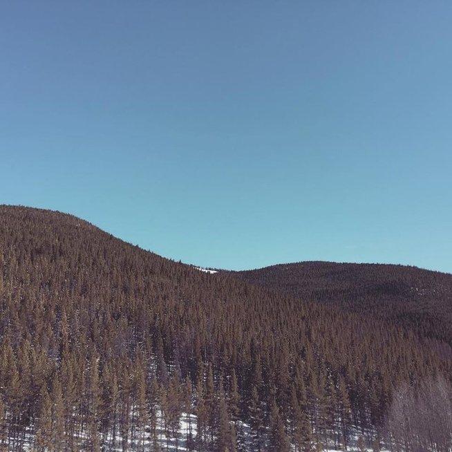 Kim Kardashian atostogos kalnuose (nuotr. facebook.com)