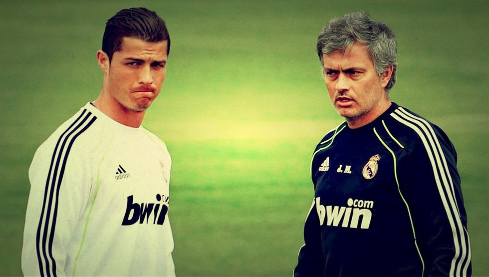 Cristiano Ronaldo ir Jose Mourinho (nuotr. SCANPIX)
