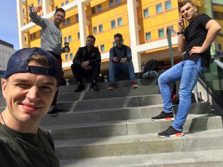 Rolandas Mackevičius, Jonas Nainys, Vaidas Baumila (nuotr. facebook.com)