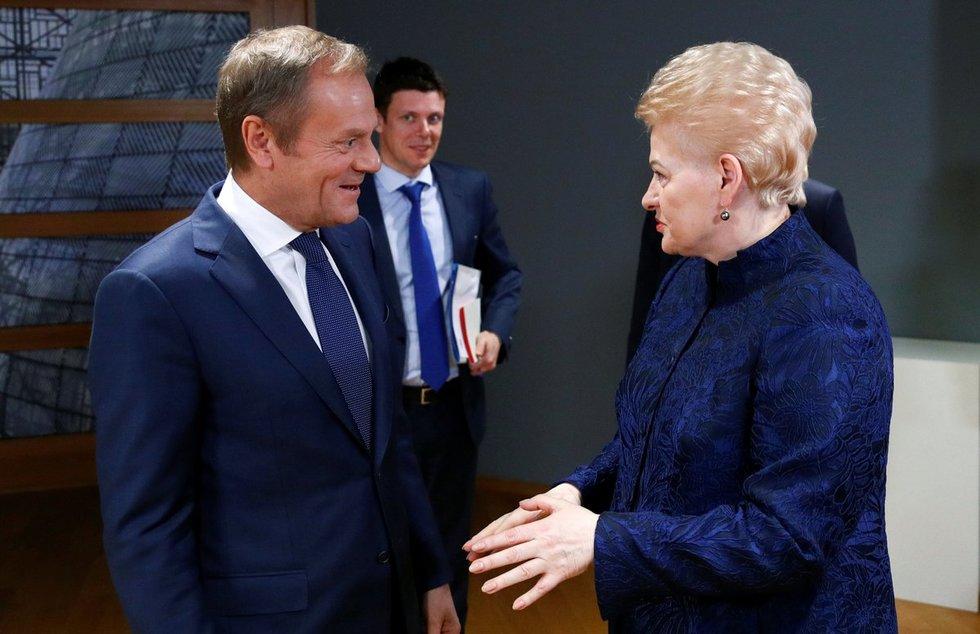 Donaldas Tuskas ir Dalia Grybauskaitė (nuotr. SCANPIX)