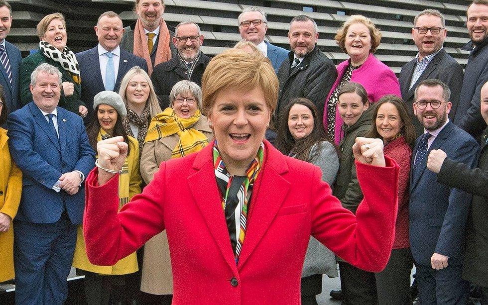Škotijos nacionalinės partijos lyderė Nicola Sturgeon