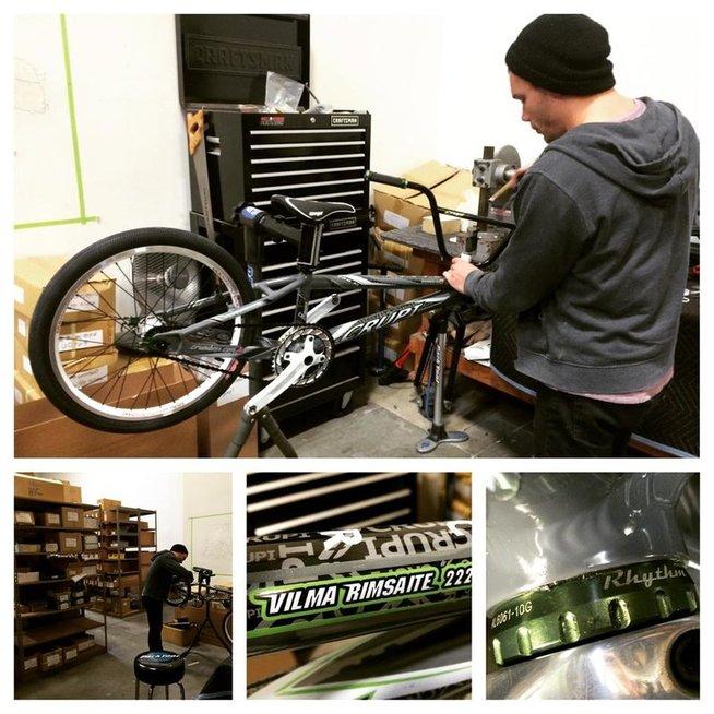 Vilmos Rimšaitės dviratis (nuotr. facebook.com)