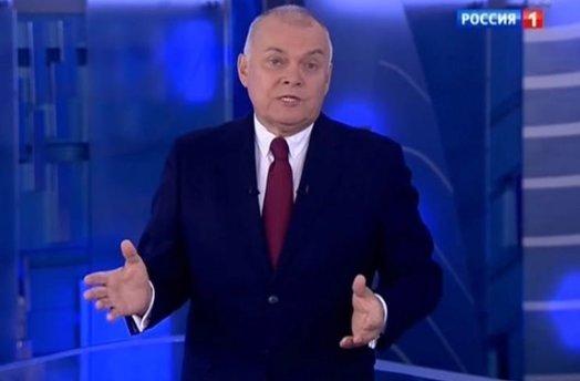 Rusijos propagandos veidas Dmitrijus Kiseliovas (nuotr. SCANPIX)