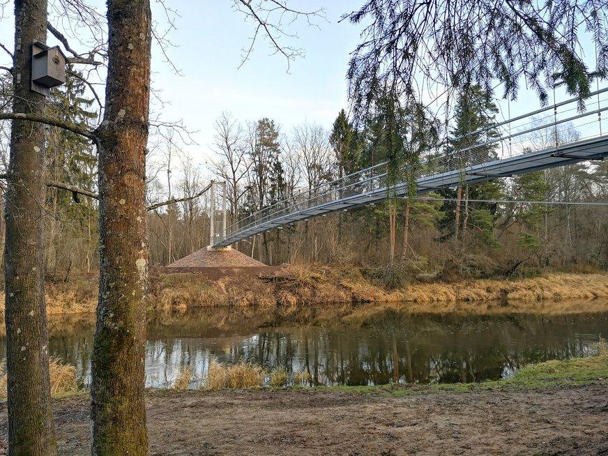 Nuo medžių lajų tako veda naujas dviračių kelias