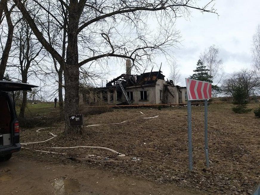 Tragiško gaisro vieta Budrių kaime