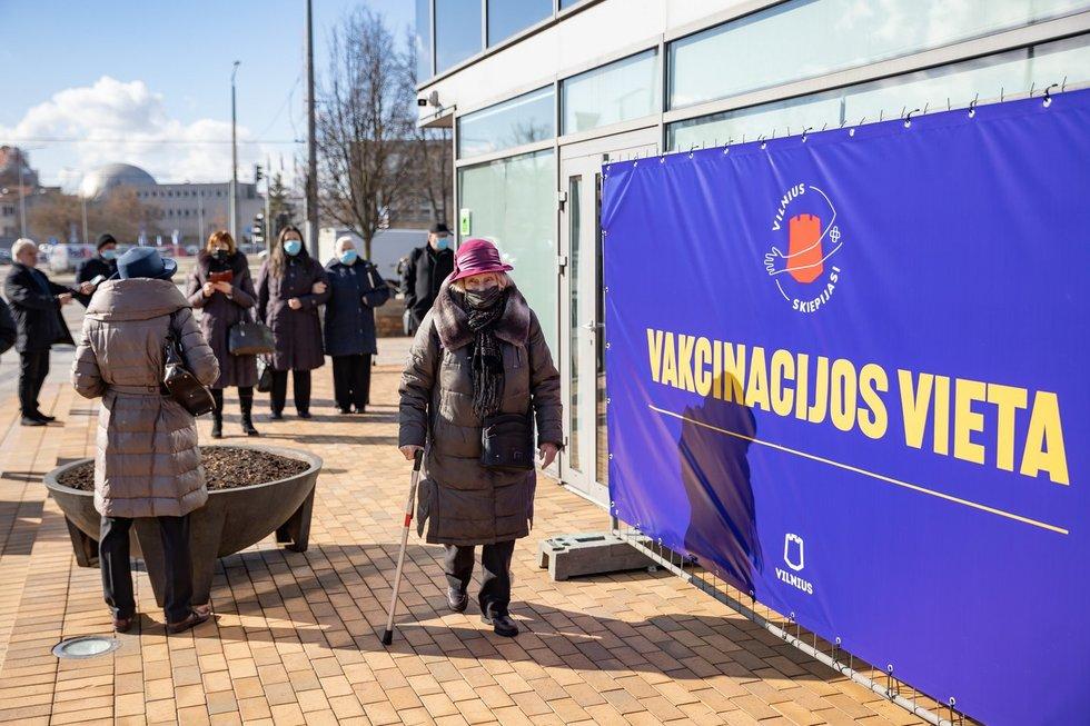 Vilniuje vakcinuojami žmonės