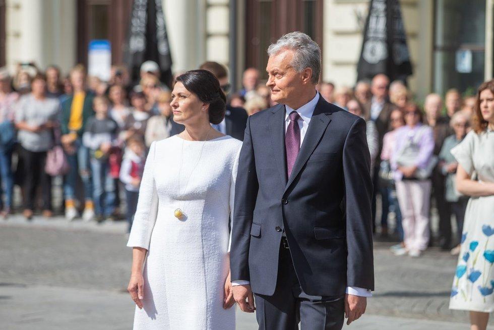 Gitanas Nausėda ir Dalia Nausėdienė (nuotr. Fotodiena/Justino Auškelio)