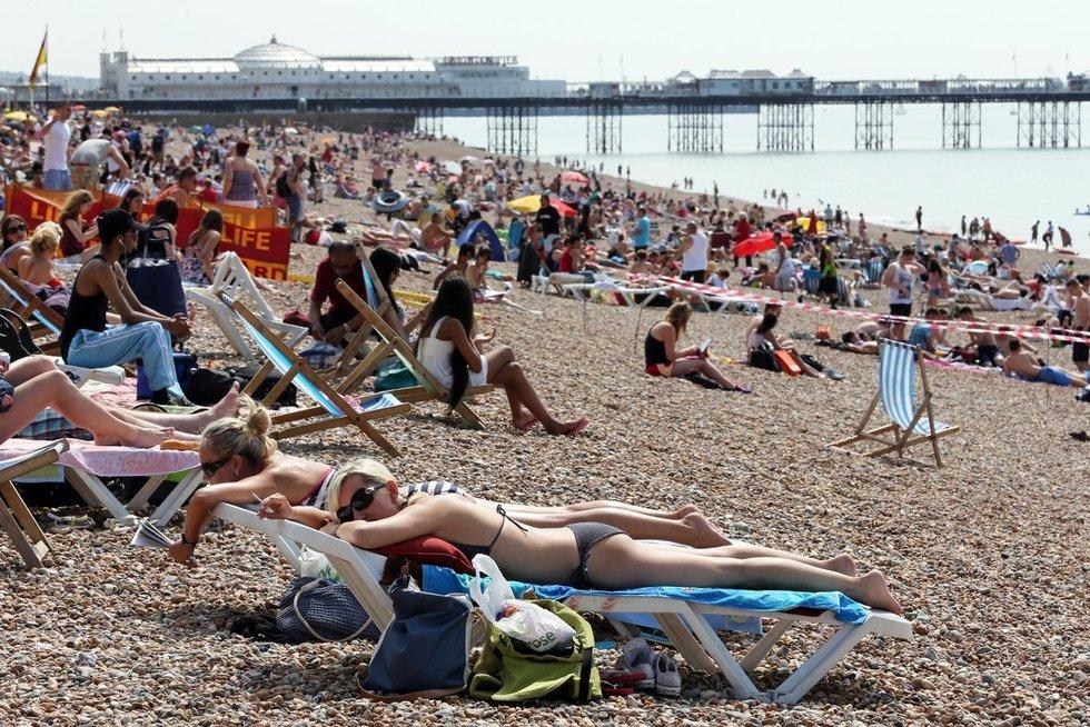Braitono paplūdimys Anglijoje (nuotr. Vida Press)