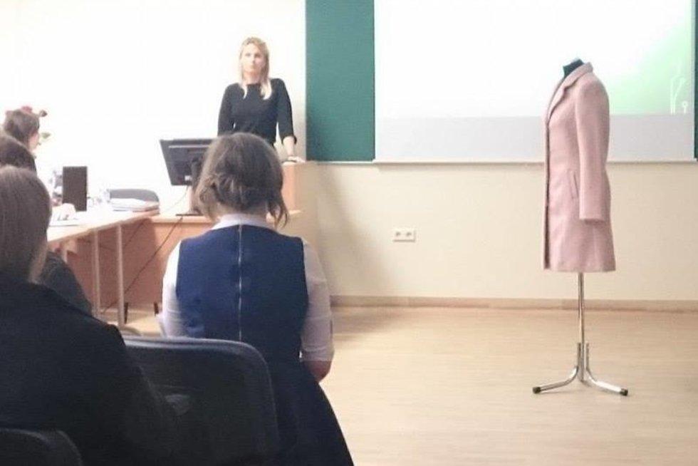 Greta Kildišienė ginasi baigiamąjį studijų darbą (nuotr. TV3)
