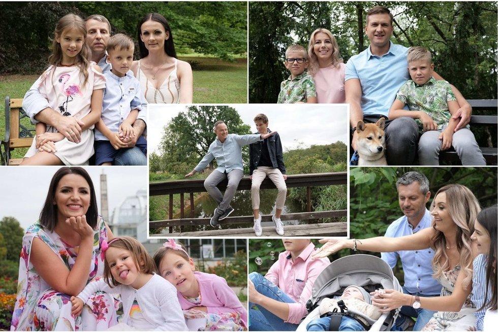 TV pagalbos gelbėtojai pristatė savo artimiausius šeimos narius (tv3.lt fotomontažas)
