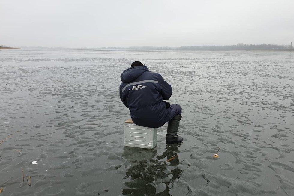 Įlūžęs žvejys  (nuotr. Raimundo Maslausko)