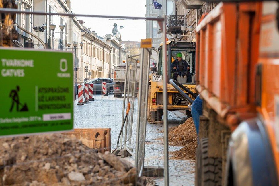 Prasideda II-asis Vilniaus gatvės rekonstrukcijos etapas (nuotr. Sauliaus Žiūros)