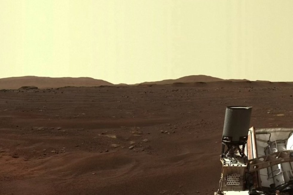 Pasidalijo kvapą gniaužiančiais Marso vaizdais (nuotr. stop kadras)