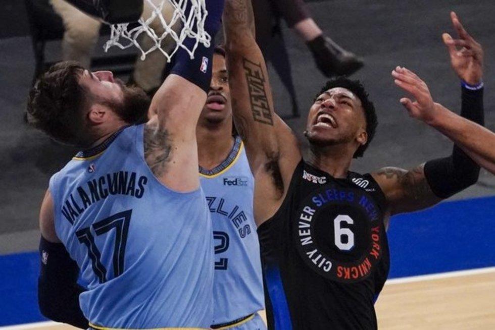 Valančiūnas pratęsė įspūdingą seriją ir tapo NBA sezono rekordininku (nuotr. SCANPIX)