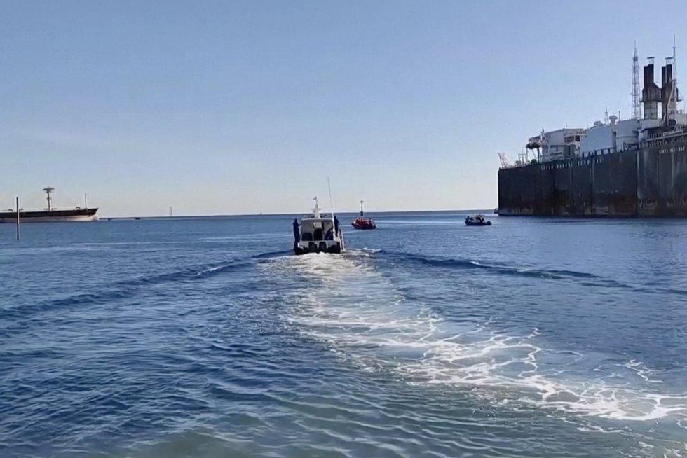 Dingusio povandeninio laivo paieška: deguonies atsargos senka (nuotr. stop kadras)