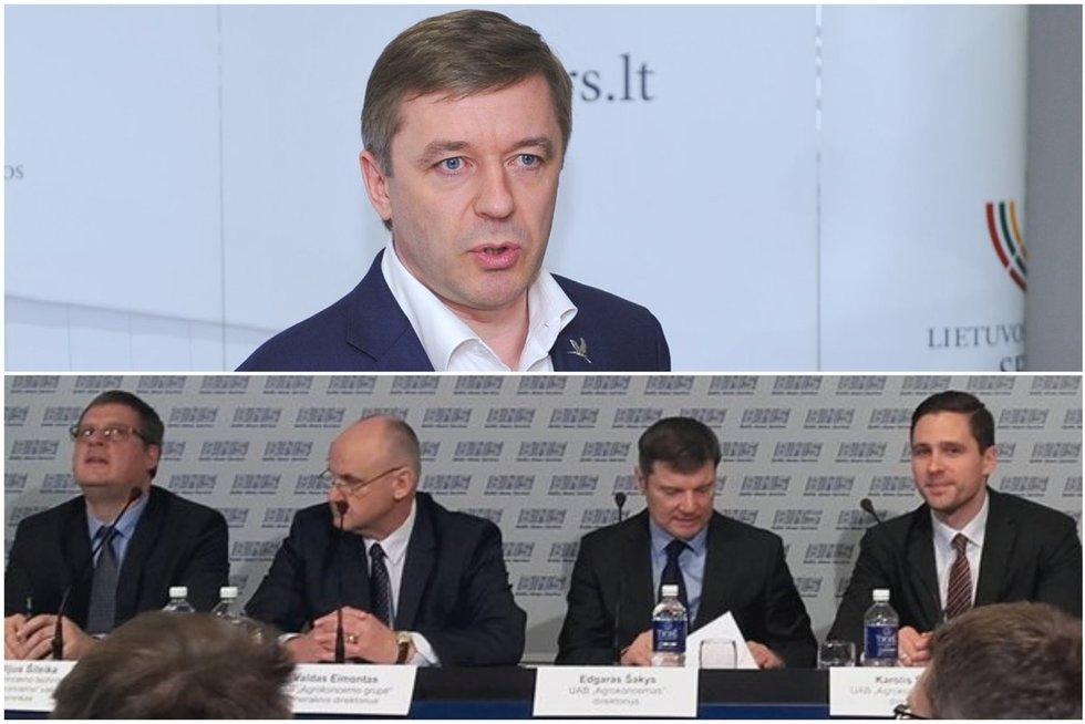 """""""Agrokoncerno"""" atstovai aiškinasi apie savo veiklą ir gaunamą dėmesį dėl R. Karbauskio (TV3 koliažas)"""
