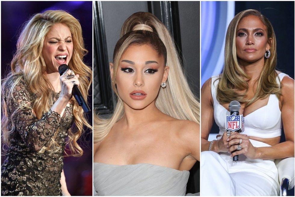 Shakira, Ariana Grande, Jennifer Lopez (tv3.lt fotomontažas)