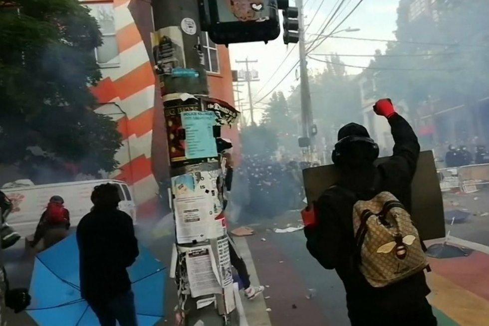 Protestai Amerikoje (nuotr. stop kadras)