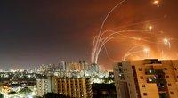 Raketomis apšaudomos Izraelio gyvenvietės ir atsakomieji smūgiai Gazos ruožo HAMAS taikiniams (nuotr. SCANPIX)