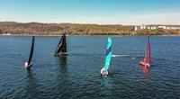 """""""Ambersail-2"""" komanda dalyvauja """"The Ocean Race Europe"""" varžybose.  (Eduardo Bareikos nuotr.)"""