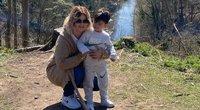 Natalie Sanders su sūnumi (nuotr. Instagram)