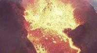 Bandymas užfiksuoti ugnikalnį iš arčiau – dronas susilydė lavoje, tačiau užfiksuoti ypatingi vaizdai  (nuotr. stop kadras)