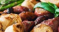 Iešmukai su daržovėmis, vaisiais bei mėsa ( nuotr. autorių)