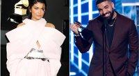 Kylie Jenner ir Drake (tv3.lt fotomontažas)