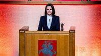 Laisvės premiją gavusi SvetlanaCichanouskaja prabilo lietuviškai