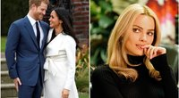 Princas Harry, Meghan Markle ir Margot Robbie (tv3.lt fotomontažas)