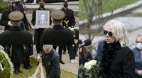 K. Glavecko laidotuvės, žmona R. Rutkelytė (tv3.lt fotomontažas)